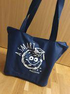 Smart Cookie iepirkuma soma ar rāvējslēdzēju, tumši zila