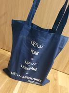 New Year New Language iepirkuma maisiņš, tumši zils